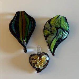 Jewelry - Glass Pendant Lot
